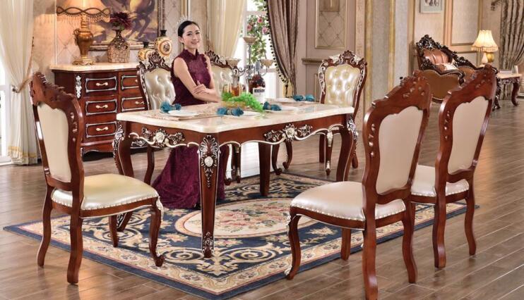 欧式实木餐椅